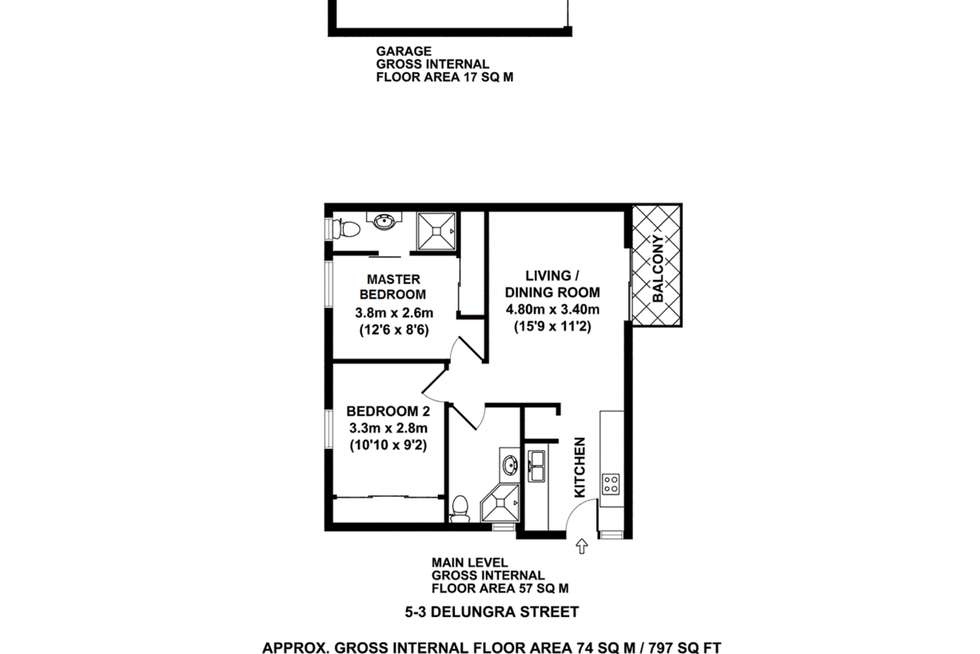 Floorplan of Homely apartment listing, 5/3 Delungra Street, Toowong QLD 4066
