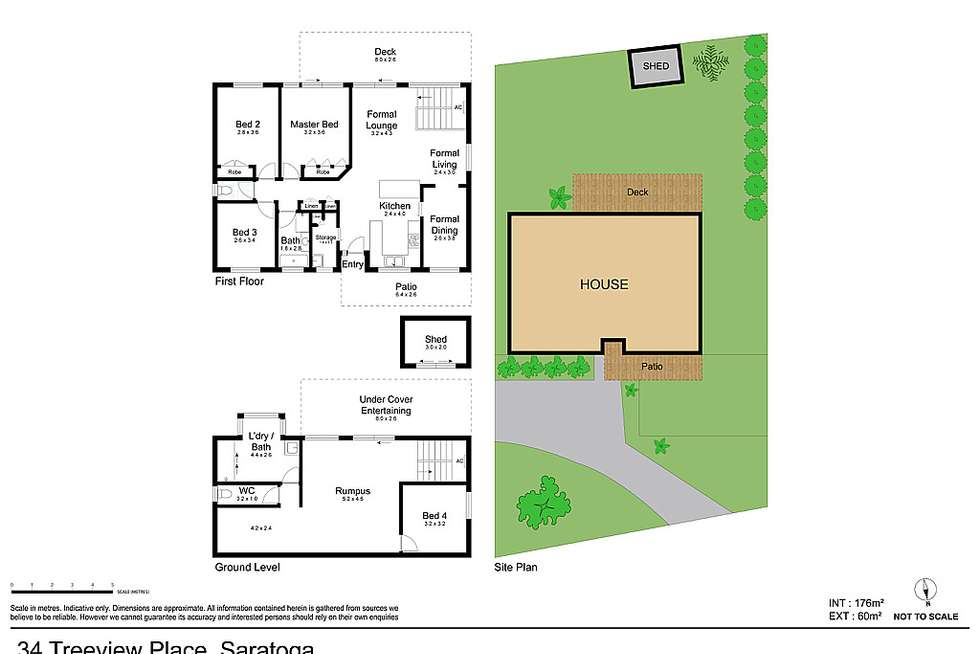 Floorplan of Homely house listing, 34 Treeview Place, Saratoga NSW 2251