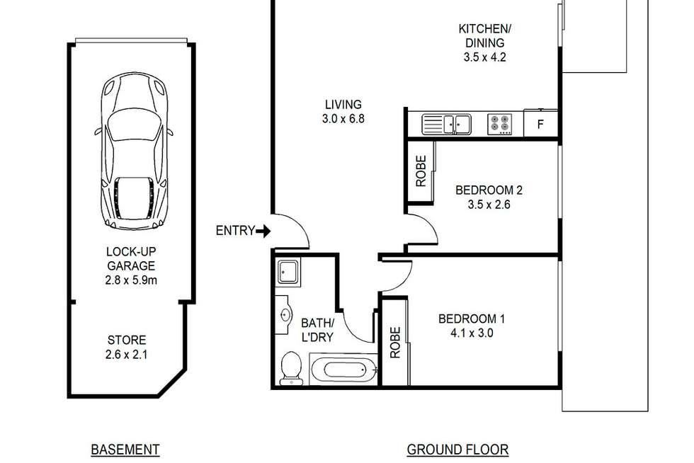 Floorplan of Homely unit listing, 6/354 Liverpool Road, Ashfield NSW 2131