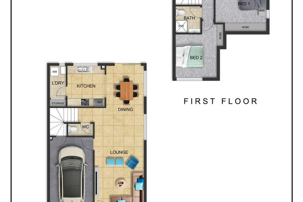 Floorplan of Homely townhouse listing, Unit 44/11 Federation St, Wynnum West QLD 4178