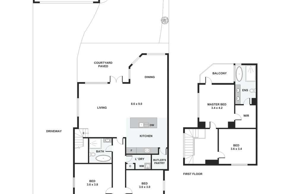 Floorplan of Homely house listing, 13 Dalgarno Street, Williamstown VIC 3016