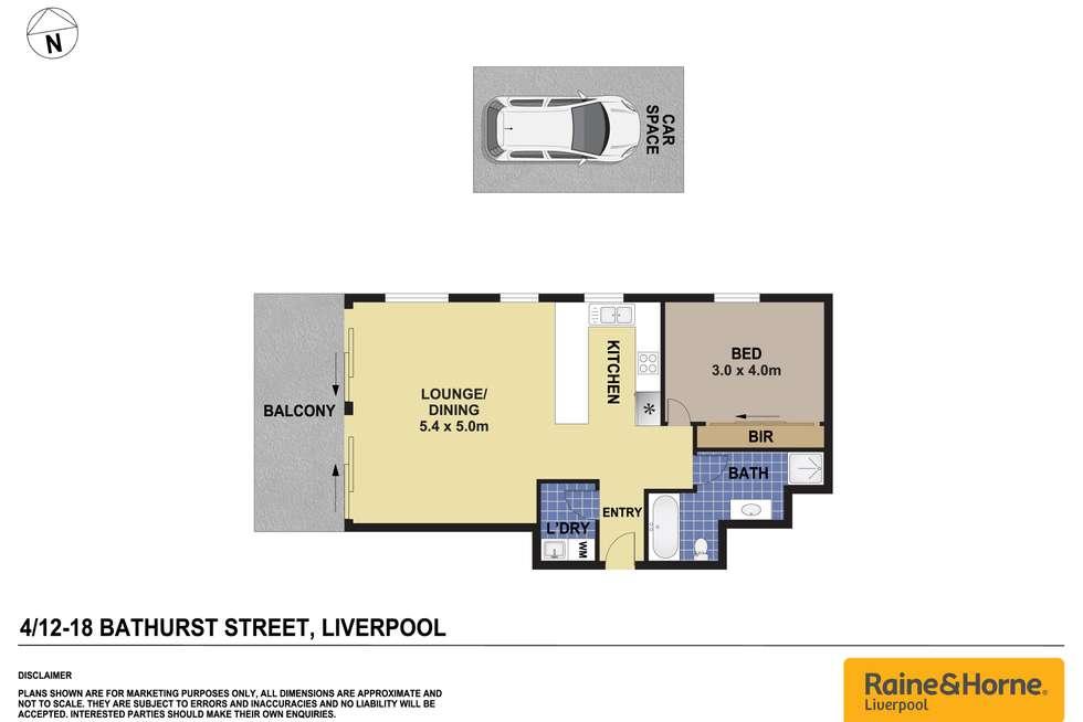 Floorplan of Homely unit listing, 4/12-18 Bathurst Street, Liverpool NSW 2170