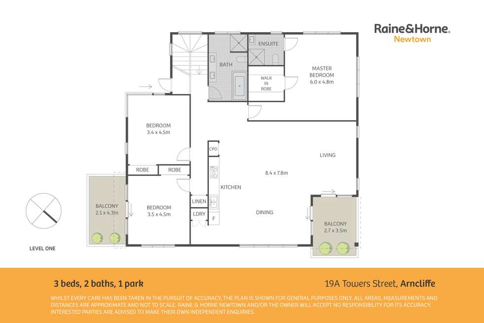 Floorplan of Homely apartment listing, 19A Towers Street, Arncliffe NSW 2205
