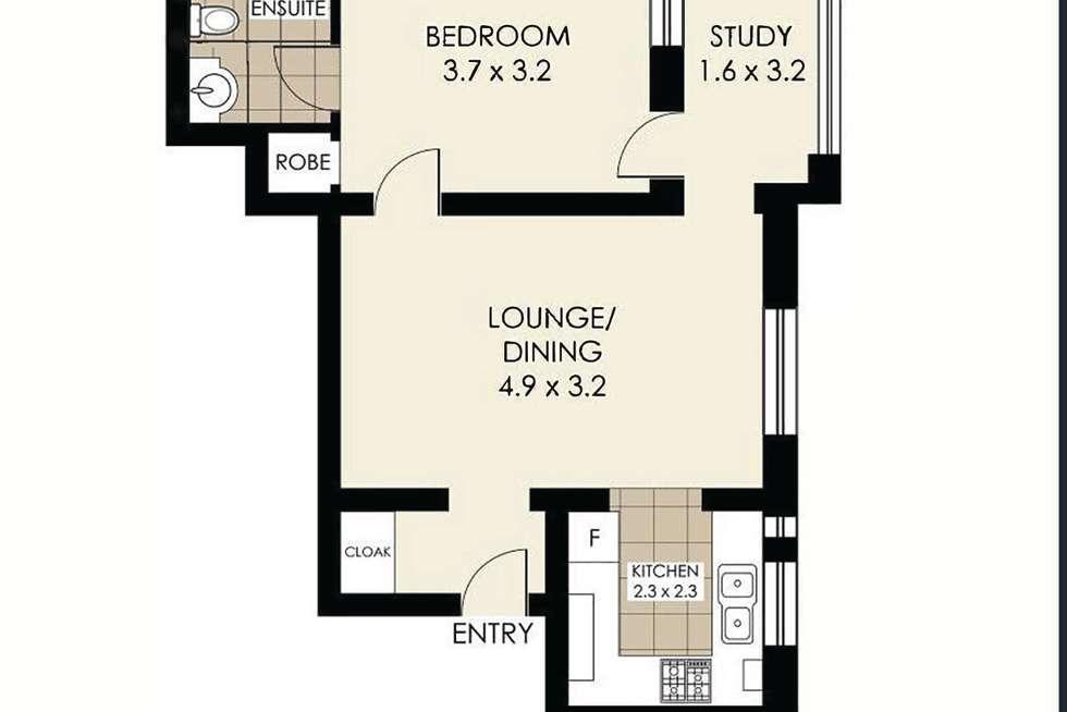 Floorplan of Homely apartment listing, 1/28 Waruda Street, Kirribilli NSW 2061