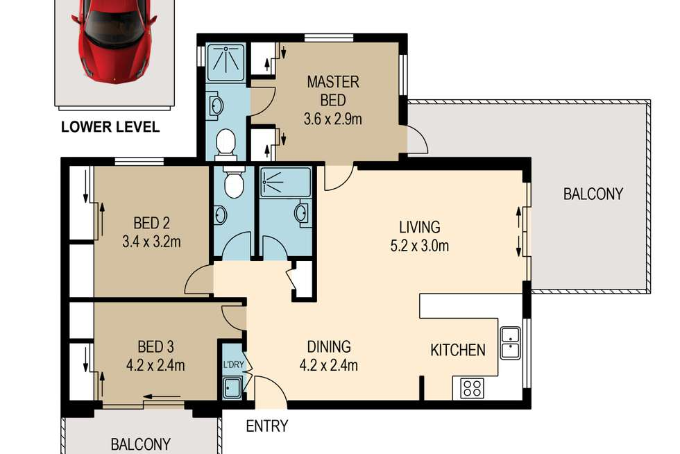 Floorplan of Homely apartment listing, 8/81 Maryvale Street, Toowong QLD 4066