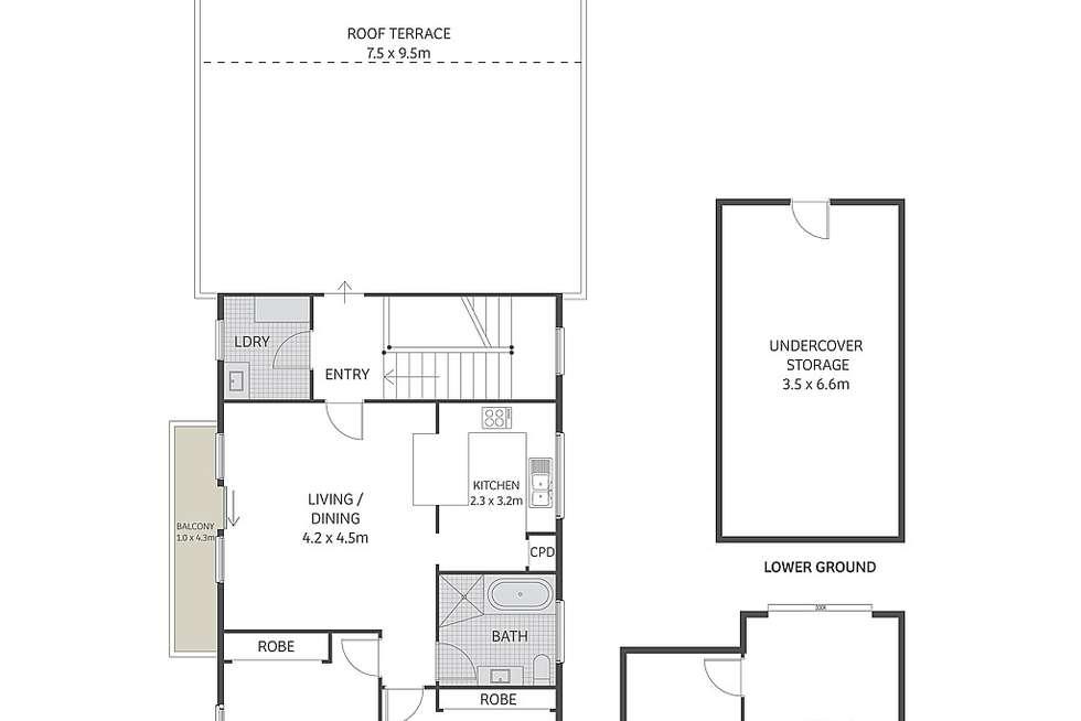 Floorplan of Homely apartment listing, 5/31 Boronia Street, Kensington NSW 2033