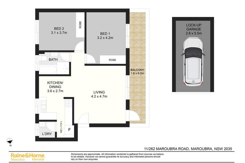 Floorplan of Homely apartment listing, 11/262 Maroubra Road, Maroubra NSW 2035