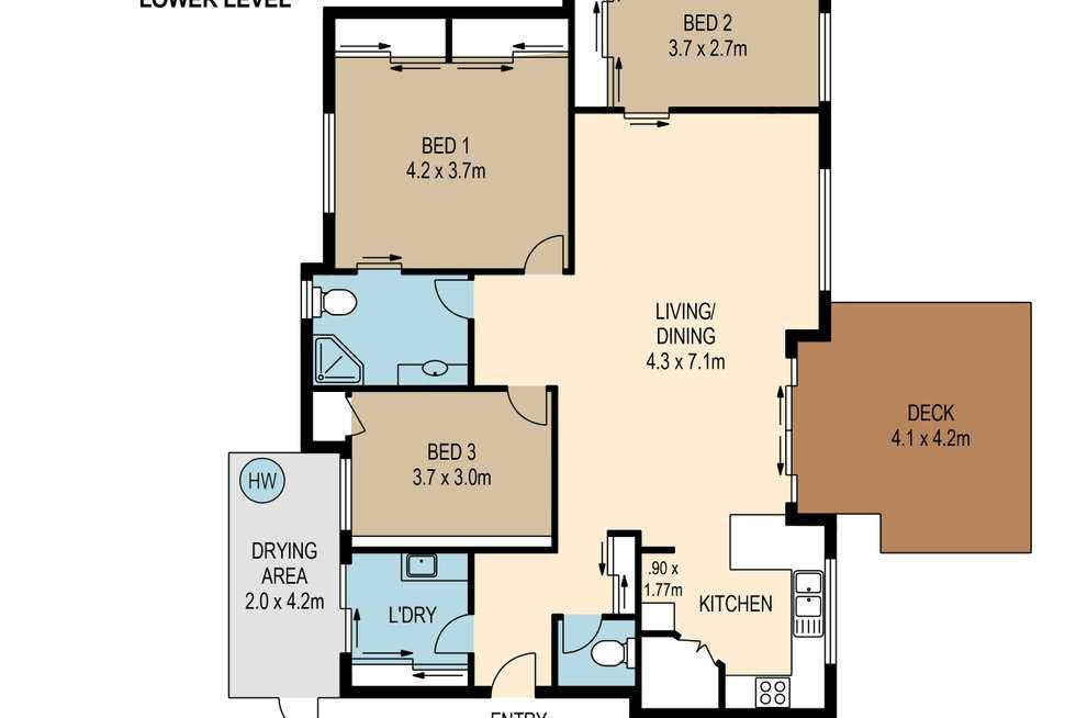 Floorplan of Homely villa listing, 14/119 Sugarwood Street, Moggill QLD 4070