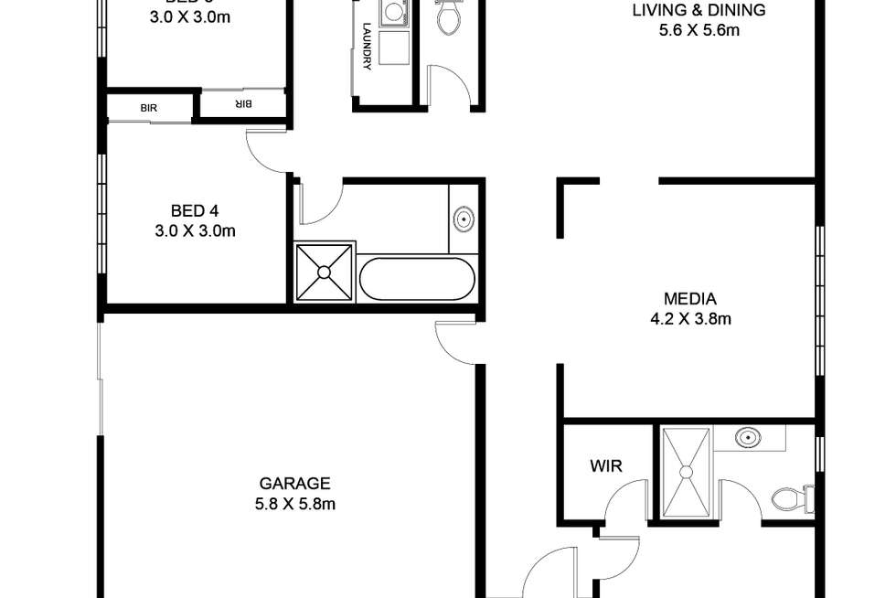 Floorplan of Homely house listing, 26 Pencarrow Crescent, Raceview QLD 4305