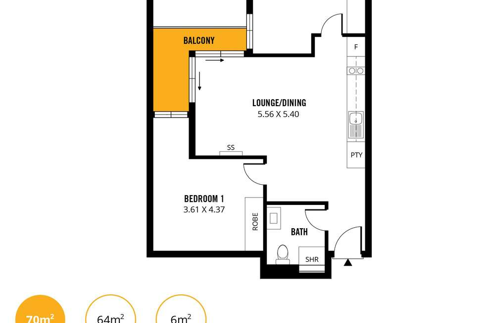 Floorplan of Homely apartment listing, 1302/15 Synagogue Place, Adelaide SA 5000
