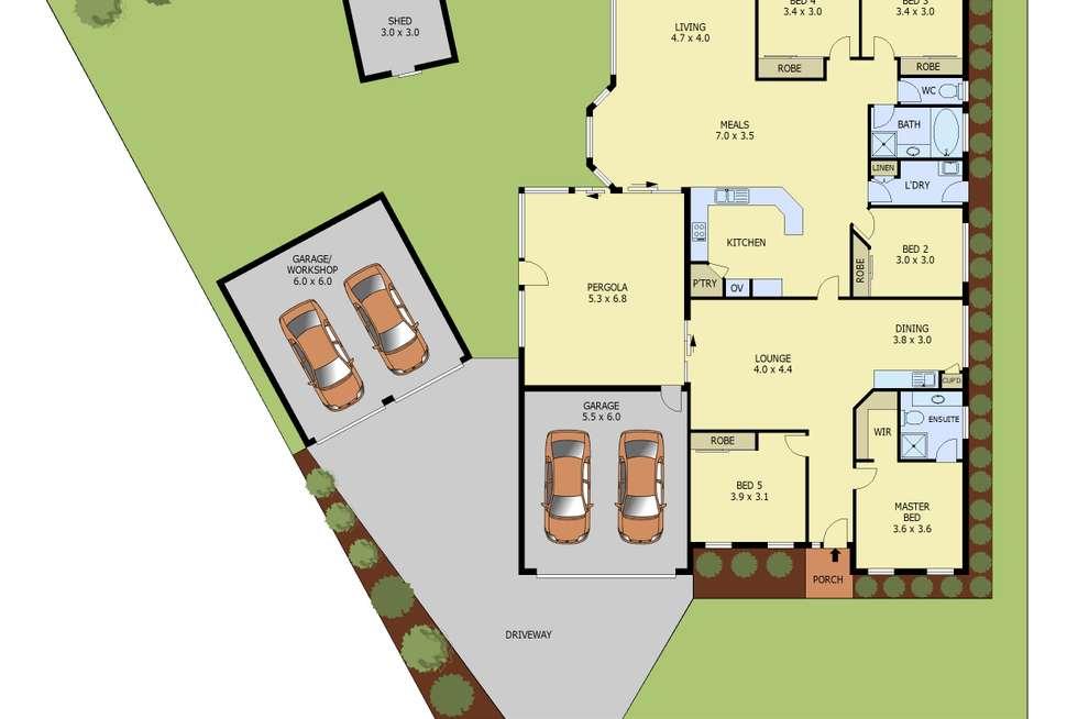 Floorplan of Homely house listing, 46 Schooner Bay Drive, Frankston VIC 3199