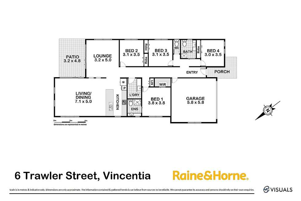 Floorplan of Homely house listing, 6 Trawler Street, Vincentia NSW 2540