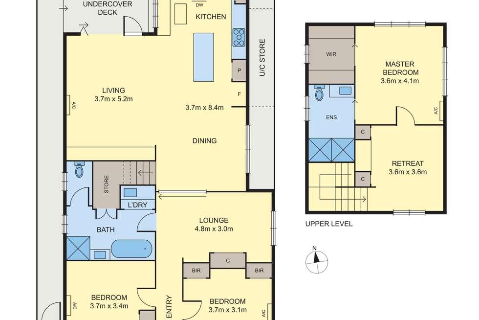 Floorplan of Homely house listing, 80 Albert Street, Williamstown VIC 3016