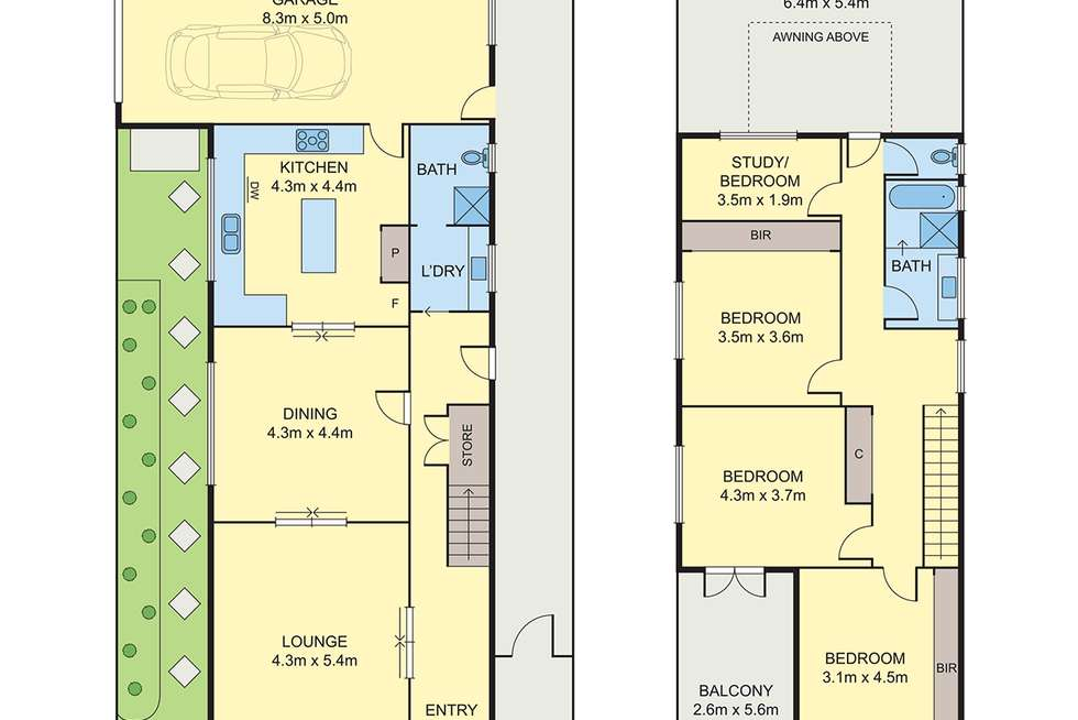 Floorplan of Homely house listing, 34 Richelieu Street, West Footscray VIC 3012
