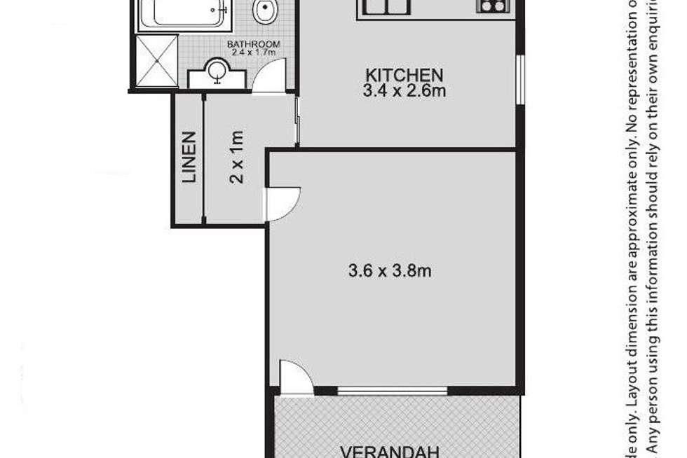 Floorplan of Homely unit listing, 2/34 Threlfall Street, Eastwood NSW 2122
