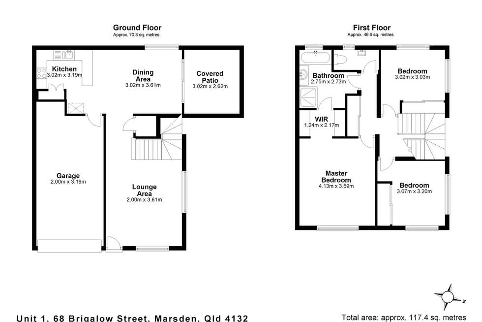 Floorplan of Homely house listing, 1/68 Brigalow Street, Marsden QLD 4132