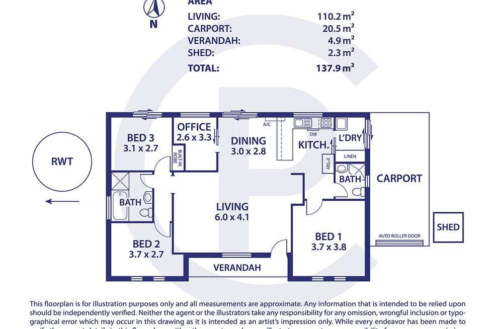Floorplan of Homely house listing, 1 Sydney Road, Nairne SA 5252