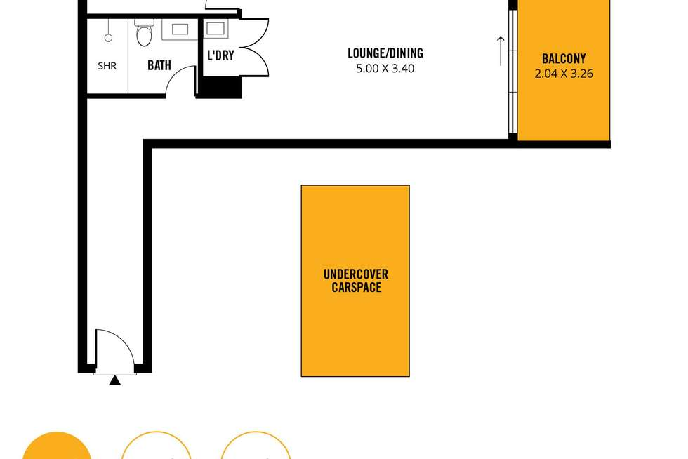 Floorplan of Homely apartment listing, 315/160 Grote Street, Adelaide SA 5000