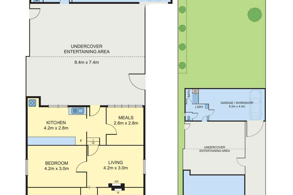 Floorplan of Homely house listing, 36 Oxford Street, Newport VIC 3015