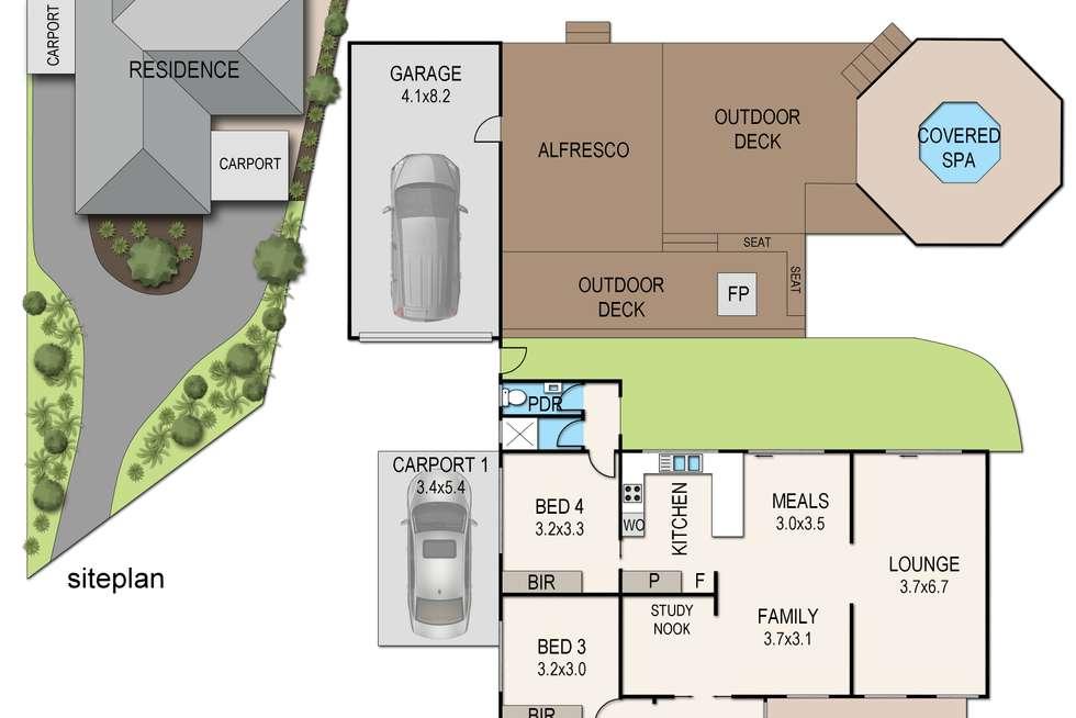 Floorplan of Homely house listing, 112 Heatherhill Road, Frankston VIC 3199