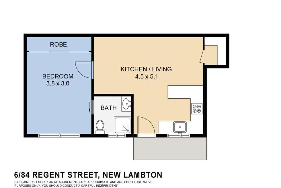 Floorplan of Homely villa listing, 6/84 Regent Street, New Lambton NSW 2305