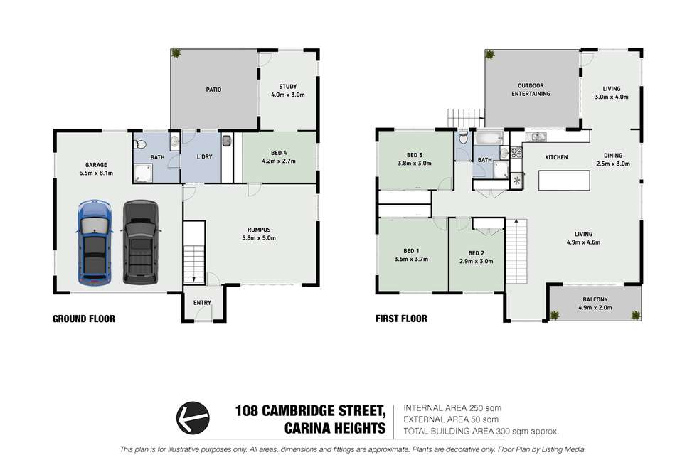Floorplan of Homely house listing, 108 Cambridge Street, Carina Heights QLD 4152