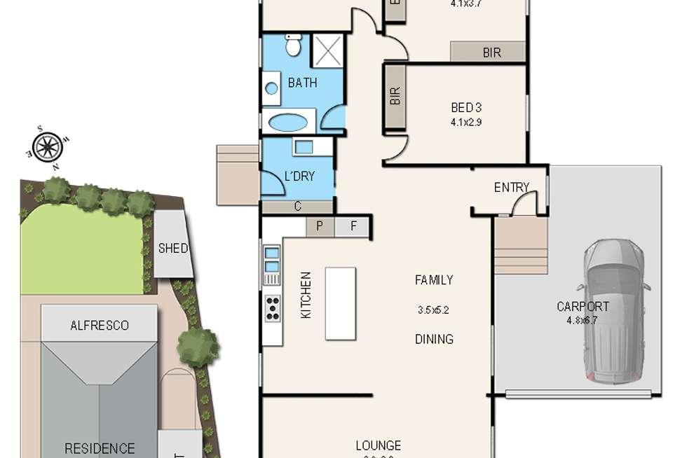 Floorplan of Homely house listing, 4 Meerlu Avenue, Frankston VIC 3199