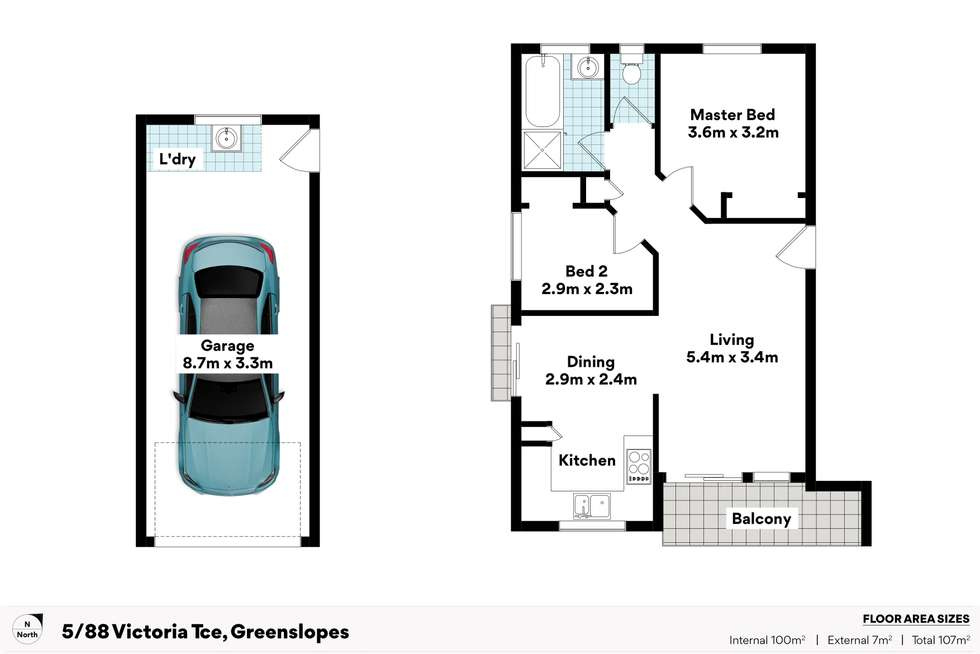 Floorplan of Homely apartment listing, 5/88 Victoria Terrace, Greenslopes QLD 4120