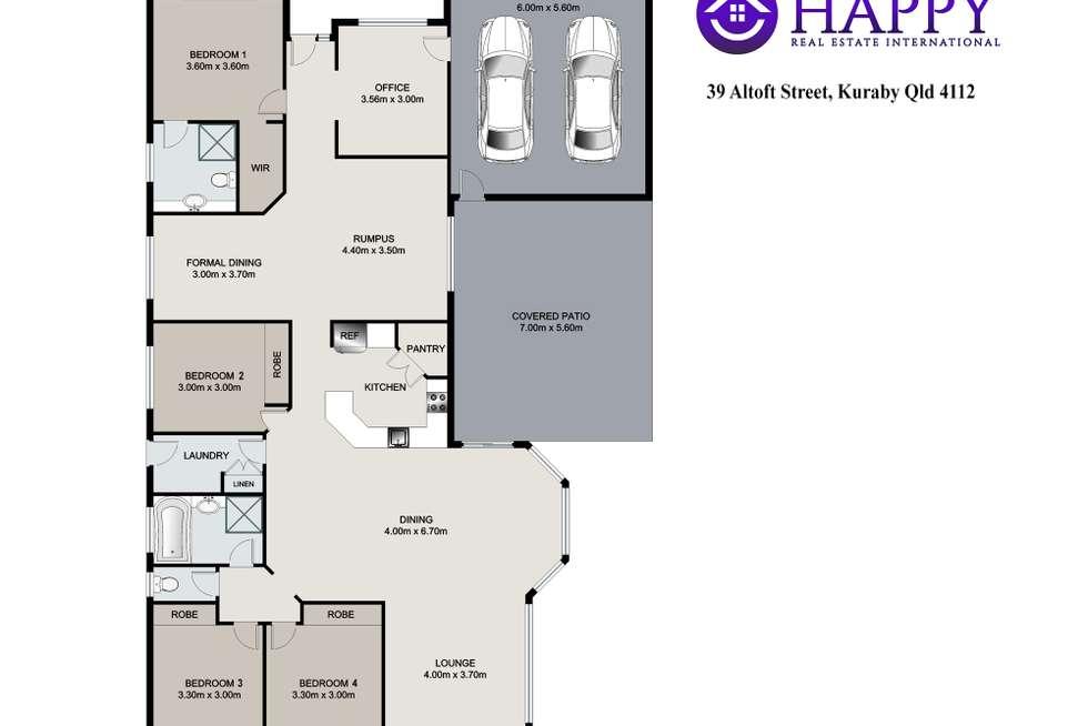 Floorplan of Homely house listing, 39 Altoft Street, Kuraby QLD 4112