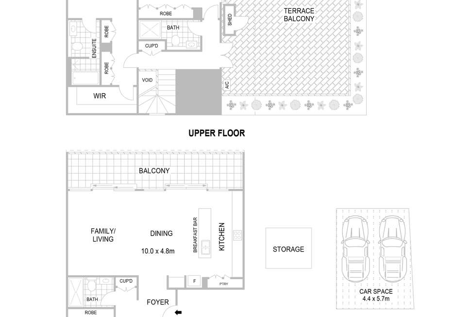 Floorplan of Homely apartment listing, 23/8 Allen Street, Waterloo NSW 2017