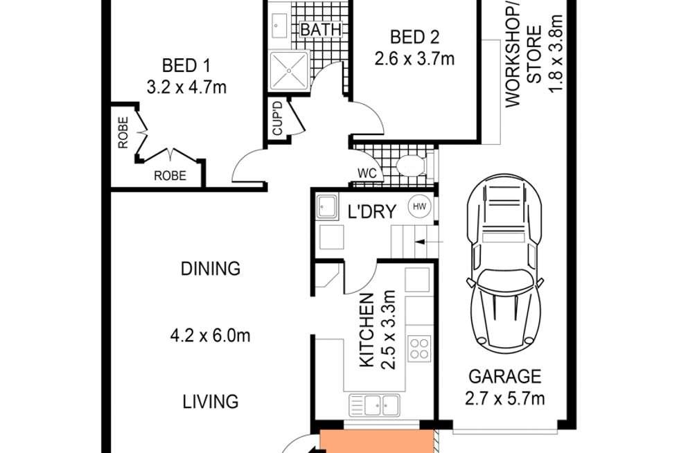 Floorplan of Homely villa listing, 4/16 East Street, Bardwell Valley NSW 2207