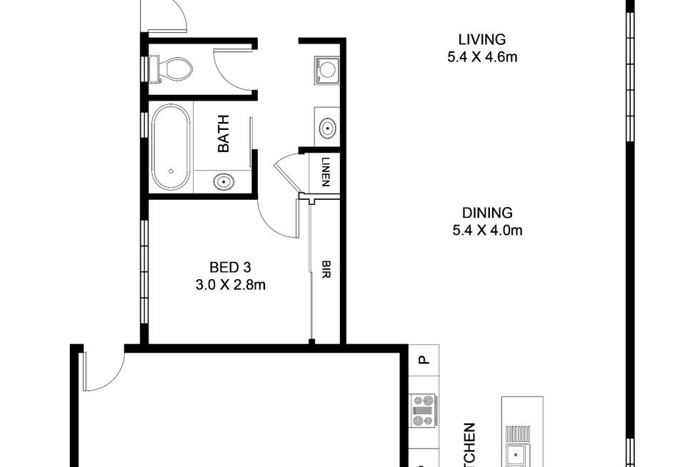Floorplan of Homely townhouse listing, 18/98 Joseph Avenue, Moggill QLD 4070