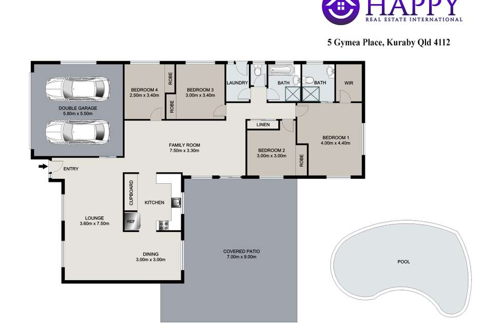 Floorplan of Homely house listing, 5 Gymea Place, Kuraby QLD 4112