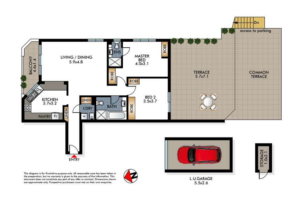 Floorplan of Homely apartment listing, 6/285 Bondi Road, Bondi NSW 2026