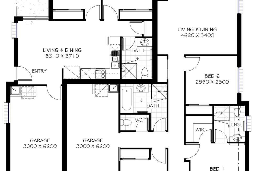 Floorplan of Homely house listing, 55 Blue-Gum Dr, Marsden QLD 4132