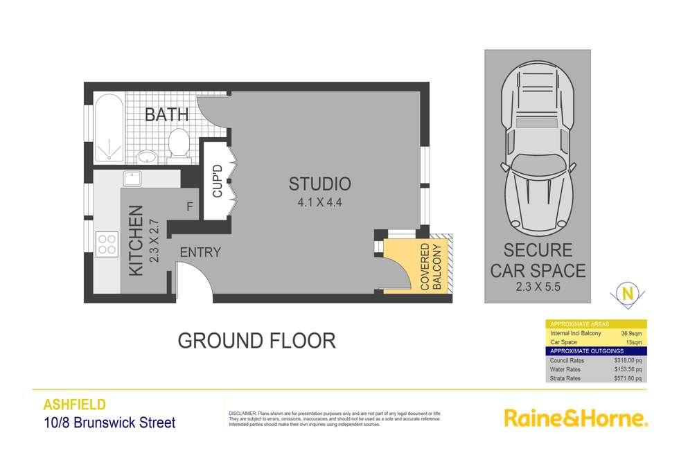Floorplan of Homely studio listing, 10/8 Brunswick Parade, Ashfield NSW 2131