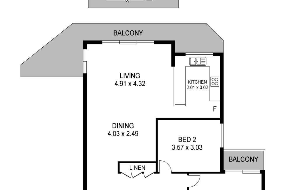 Floorplan of Homely unit listing, 32/127-129 Georgiana Terrace, Gosford NSW 2250