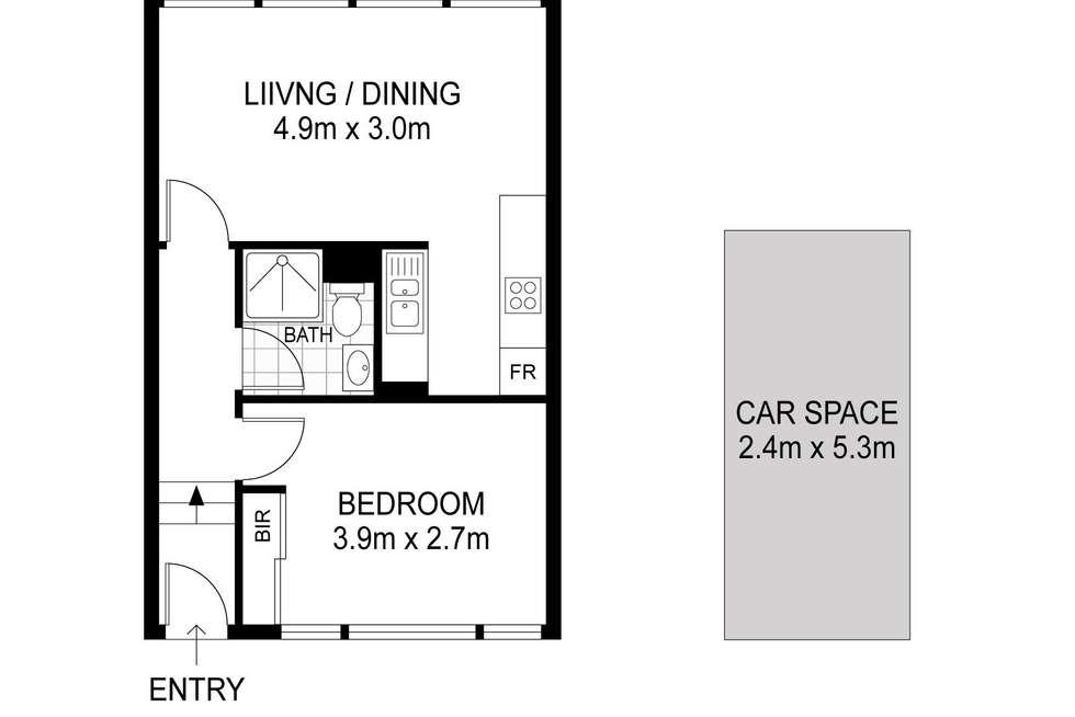 Floorplan of Homely apartment listing, 306/176 Glenmore Road, Paddington NSW 2021