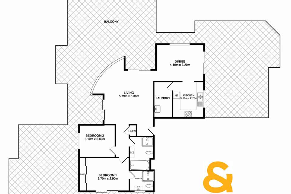 Floorplan of Homely unit listing, 22/35 Campbell Street, Liverpool NSW 2170