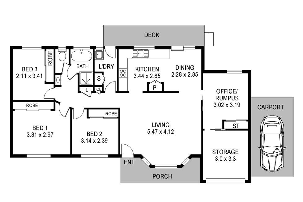 Floorplan of Homely house listing, 33 Jeannie Crescent, Berkeley Vale NSW 2261