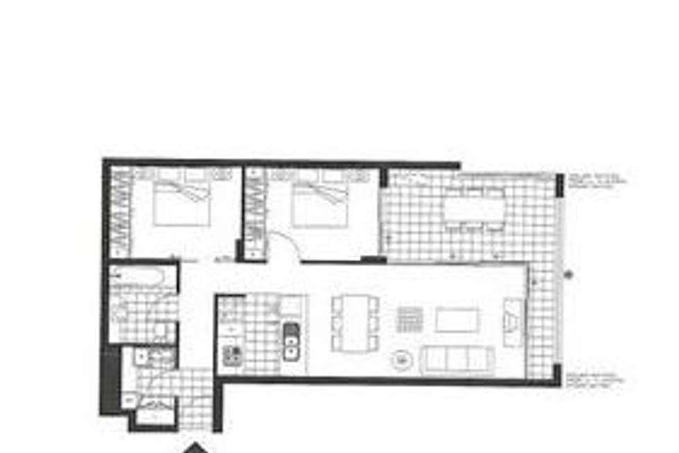 Floorplan of Homely unit listing, 3073/3 Parkland Boulevard, Brisbane City QLD 4000