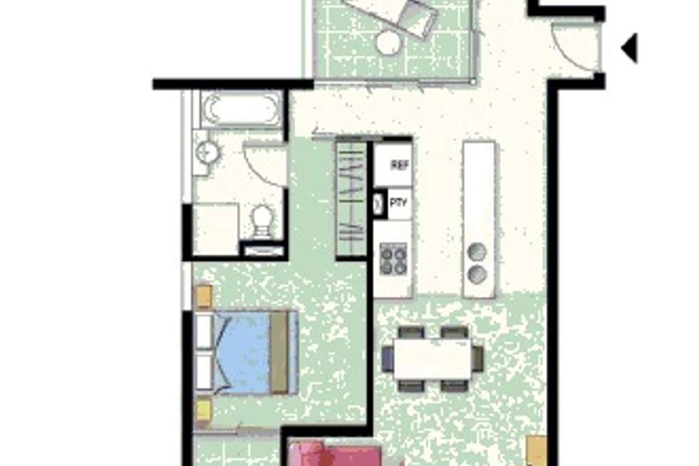 Floorplan of Homely apartment listing, 15 Walsh Street, Milton QLD 4064