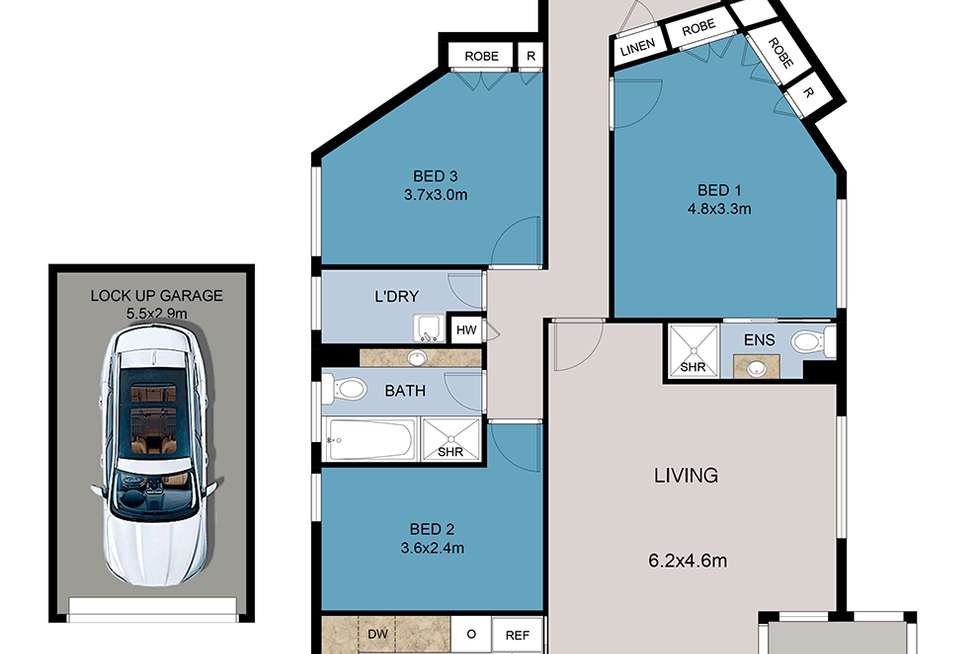 Floorplan of Homely apartment listing, 2D/80 Shirley Road, Wollstonecraft NSW 2065