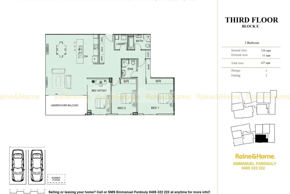 Floorplan of Homely apartment listing, 317/3 Gerbera Place, Kellyville NSW 2155