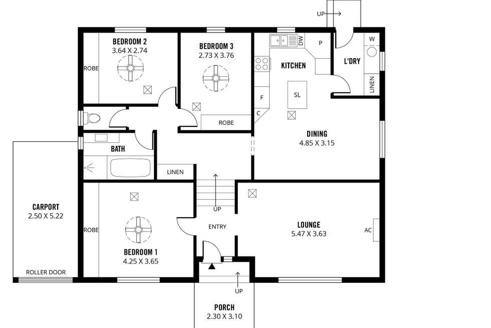 Floorplan of Homely house listing, 8 Pinchbeck Street, Morphett Vale SA 5162