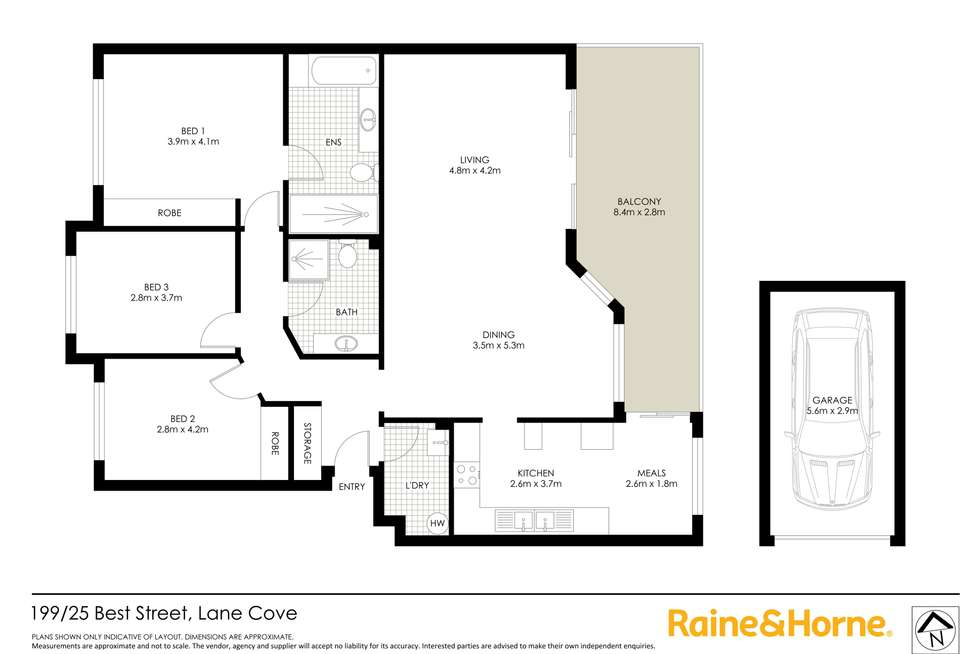 Floorplan of Homely apartment listing, 199/25 Best Street, Lane Cove NSW 2066