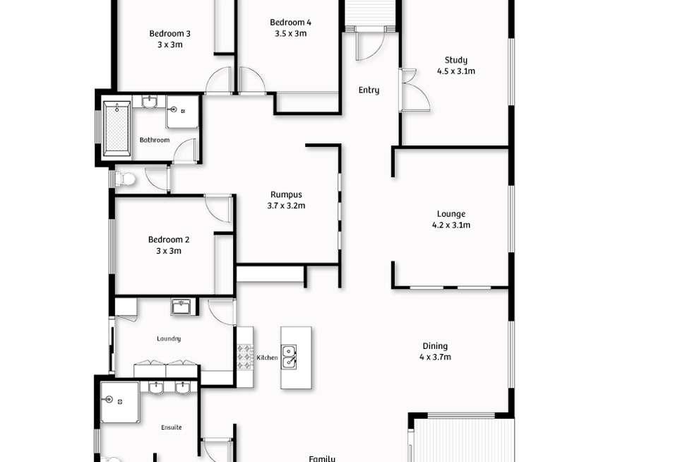 Floorplan of Homely house listing, 11 Bashful Lane, Coomera Waters QLD 4209