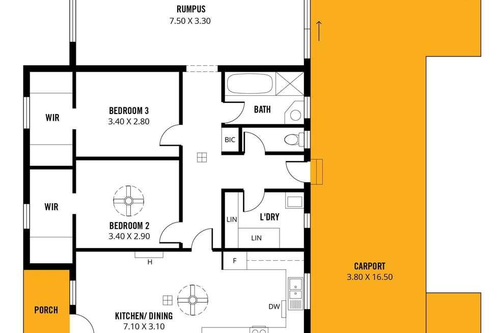 Floorplan of Homely house listing, 18 Marana Avenue, Morphett Vale SA 5162