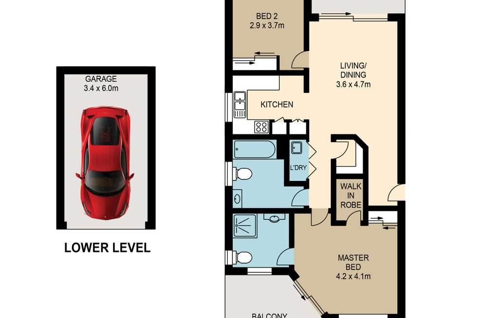 Floorplan of Homely apartment listing, 1/52-58 Mitre Street, St Lucia QLD 4067