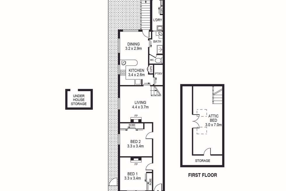 Floorplan of Homely house listing, 44 Percival Street, Bexley NSW 2207